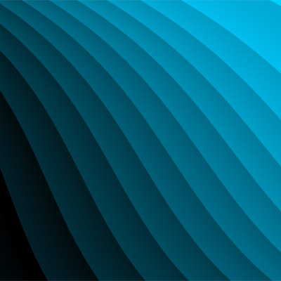 gradient wave blue curve abstract